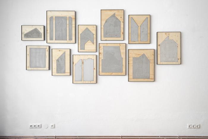 """Ausstellungsansicht """"Firewall"""" Projektraum Lucas Cuturi 2018"""